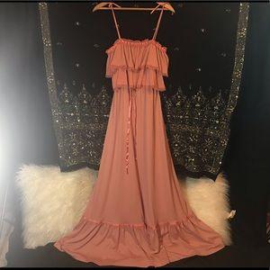 🌛Vintage Boho Prairie 60s 70s Maxi Dress